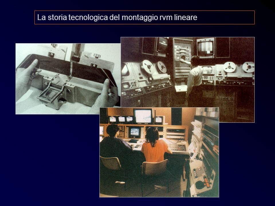 La storia tecnologica del montaggio rvm lineare