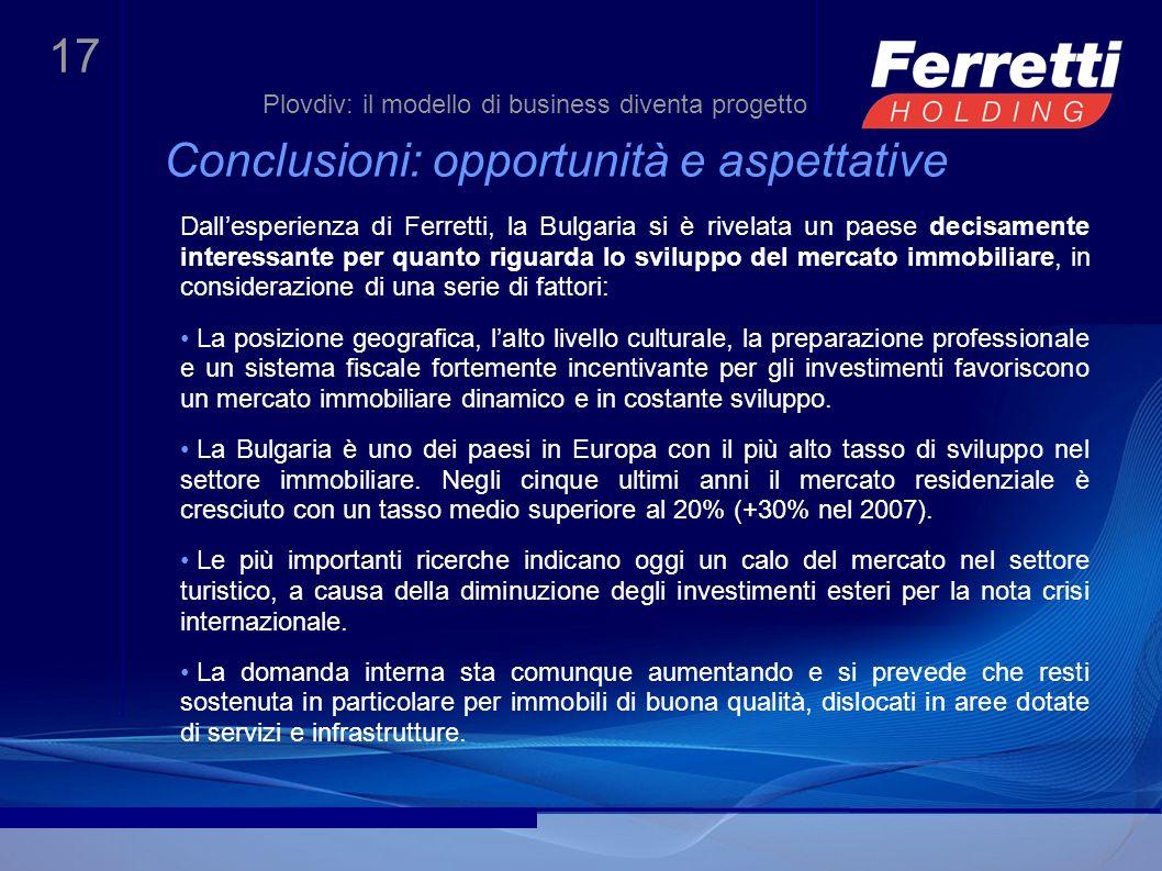 Conclusioni: opportunità e aspettative