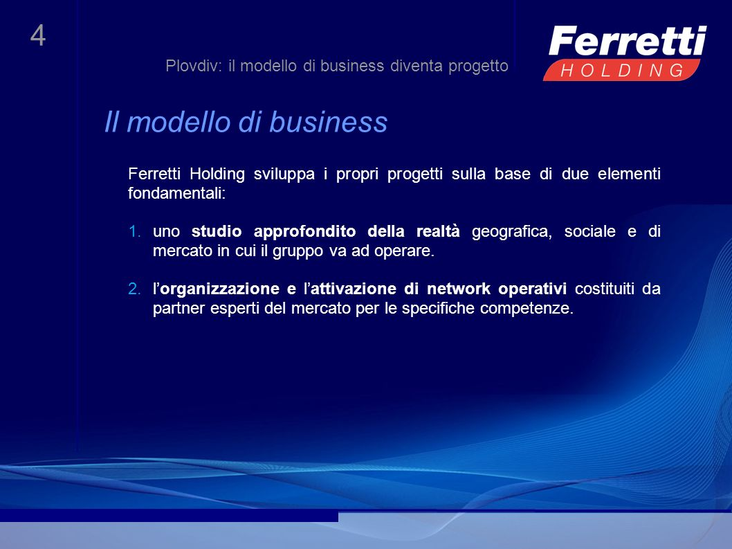 Plovdiv: il modello di business diventa progetto
