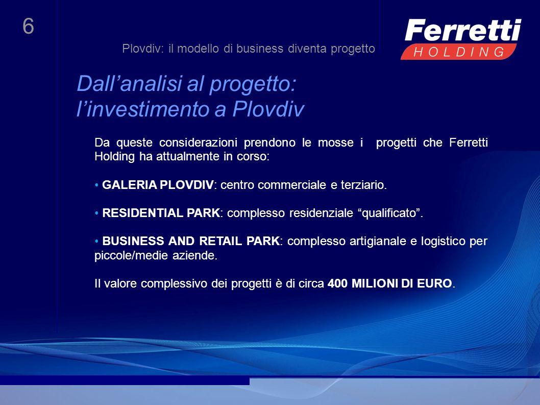 Dall'analisi al progetto: l'investimento a Plovdiv