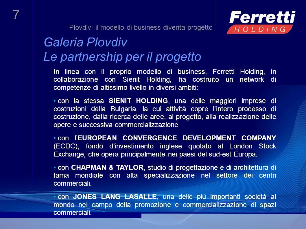 Galeria Plovdiv Le partnership per il progetto