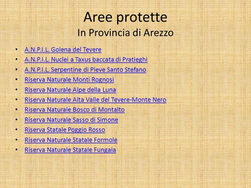 Aree protette In Provincia di Arezzo