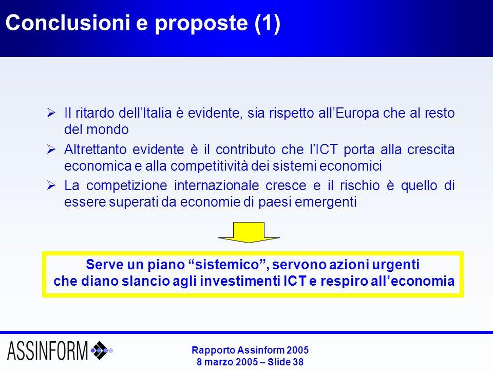 Conclusioni e proposte (2)