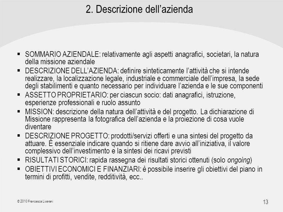 2. Descrizione dell'azienda