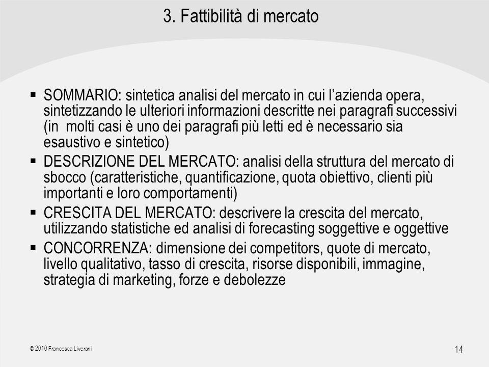 3. Fattibilità di mercato
