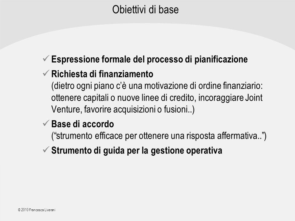 Obiettivi di base Espressione formale del processo di pianificazione
