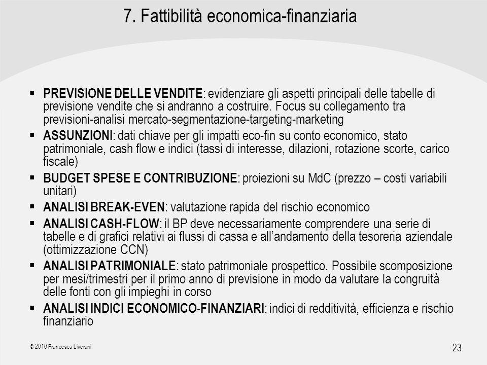 7. Fattibilità economica-finanziaria