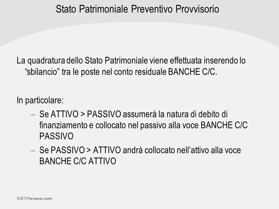 Stato Patrimoniale Preventivo Provvisorio