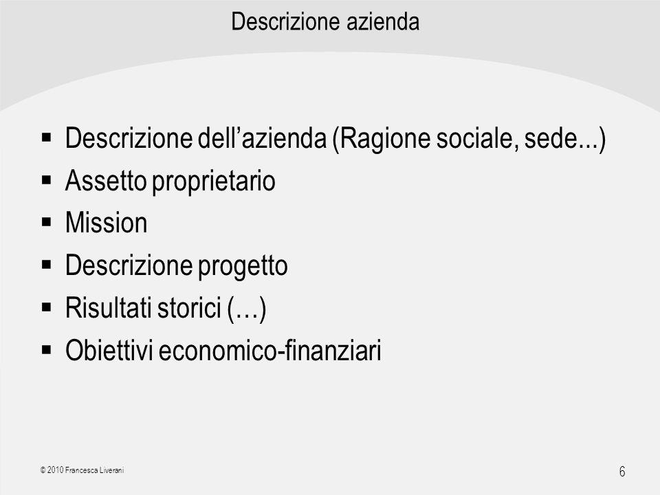 Descrizione dell'azienda (Ragione sociale, sede...)