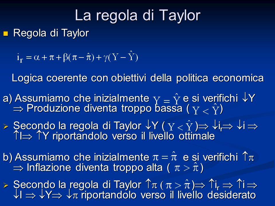 La regola di Taylor Regola di Taylor