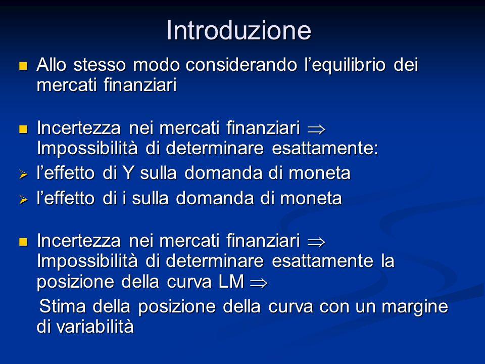 Introduzione Allo stesso modo considerando l'equilibrio dei mercati finanziari.