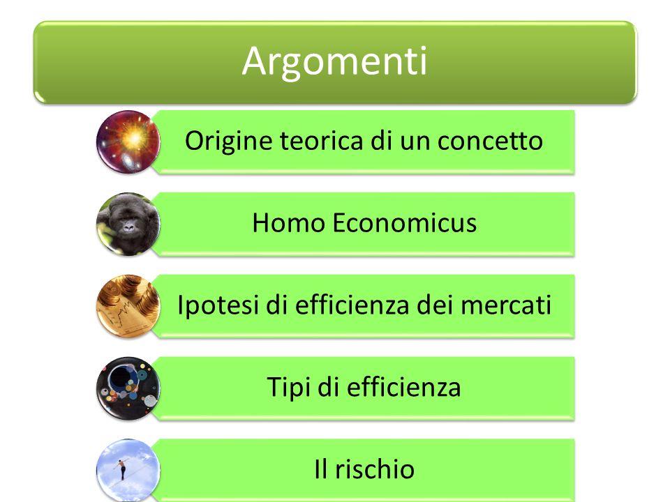 Argomenti Origine teorica di un concetto Homo Economicus