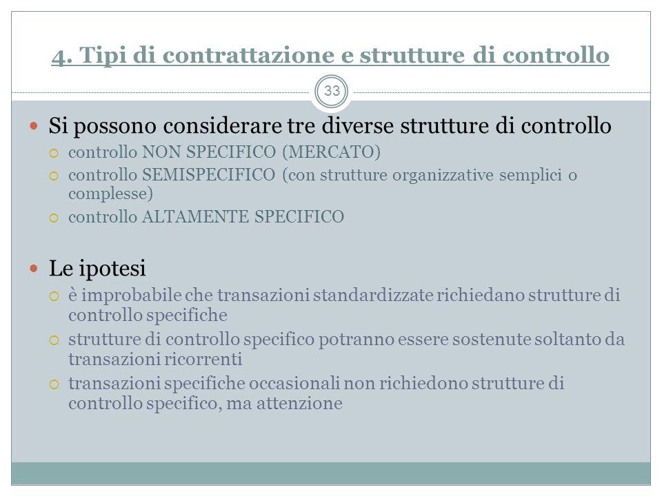 4. Tipi di contrattazione e strutture di controllo