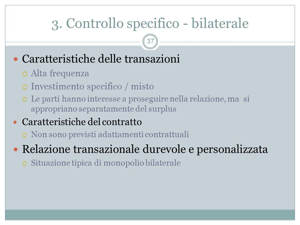 3. Controllo specifico - bilaterale