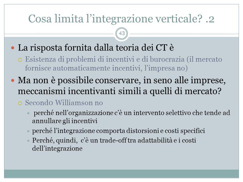 Cosa limita l'integrazione verticale .2