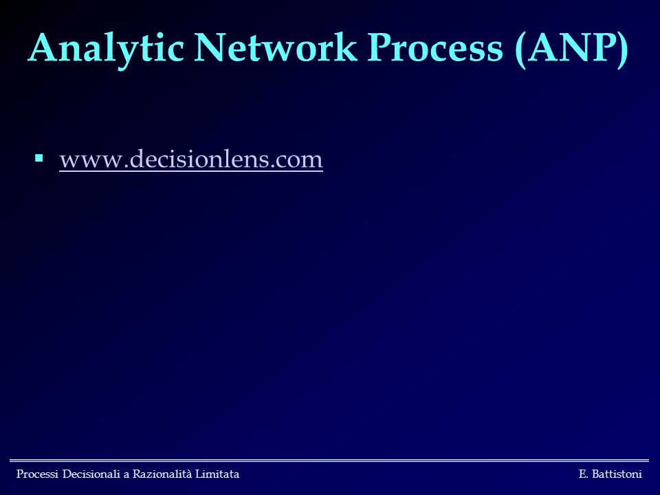 Analytic Network Process (ANP)
