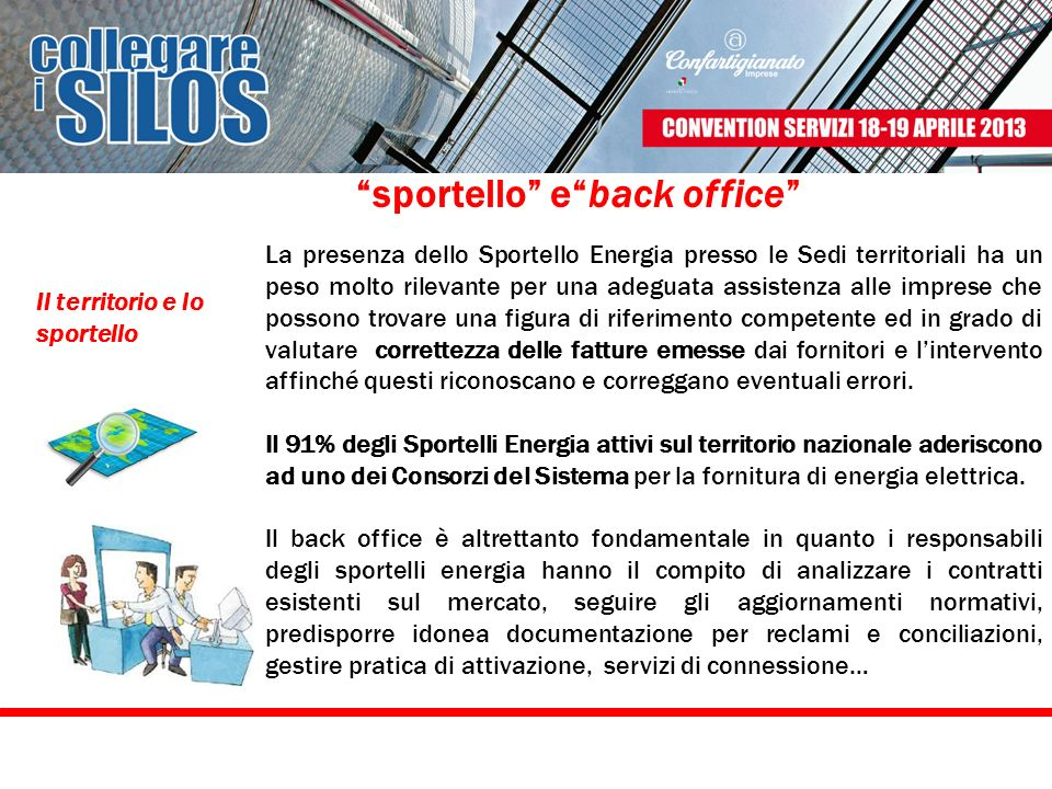 sportello e back office