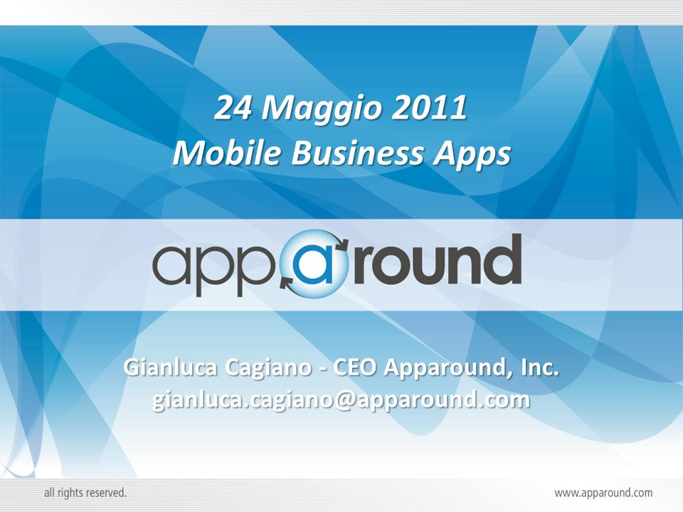 Gianluca Cagiano - CEO Apparound, Inc.