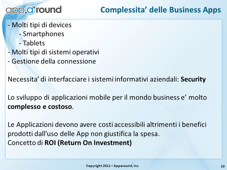Complessita' delle Business Apps