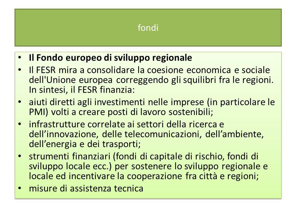 Il Fondo europeo di sviluppo regionale