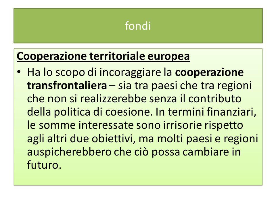 fondi Cooperazione territoriale europea.