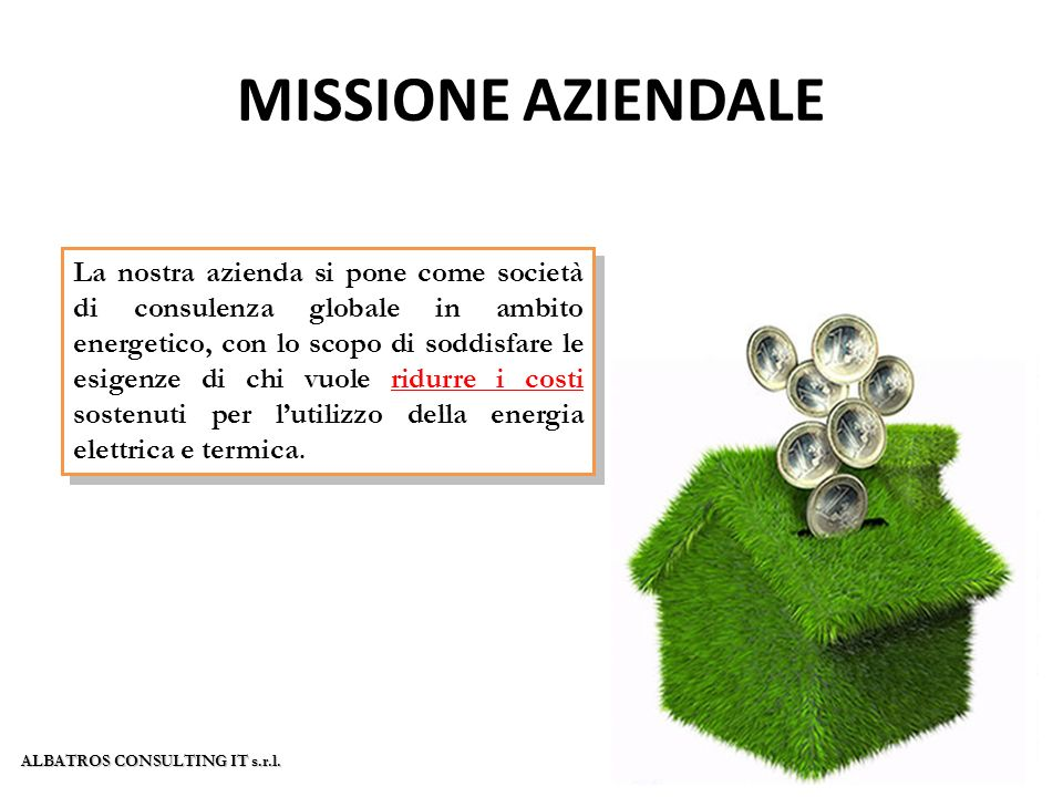 MISSIONE AZIENDALE