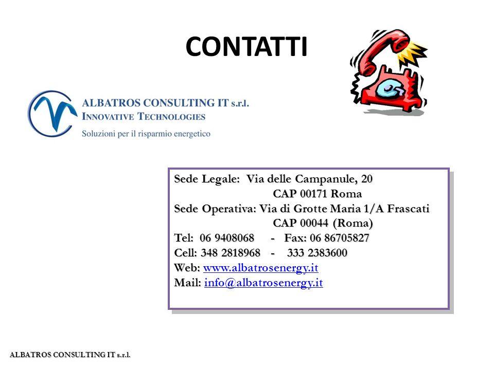 CONTATTI Sede Legale: Via delle Campanule, 20 CAP 00171 Roma