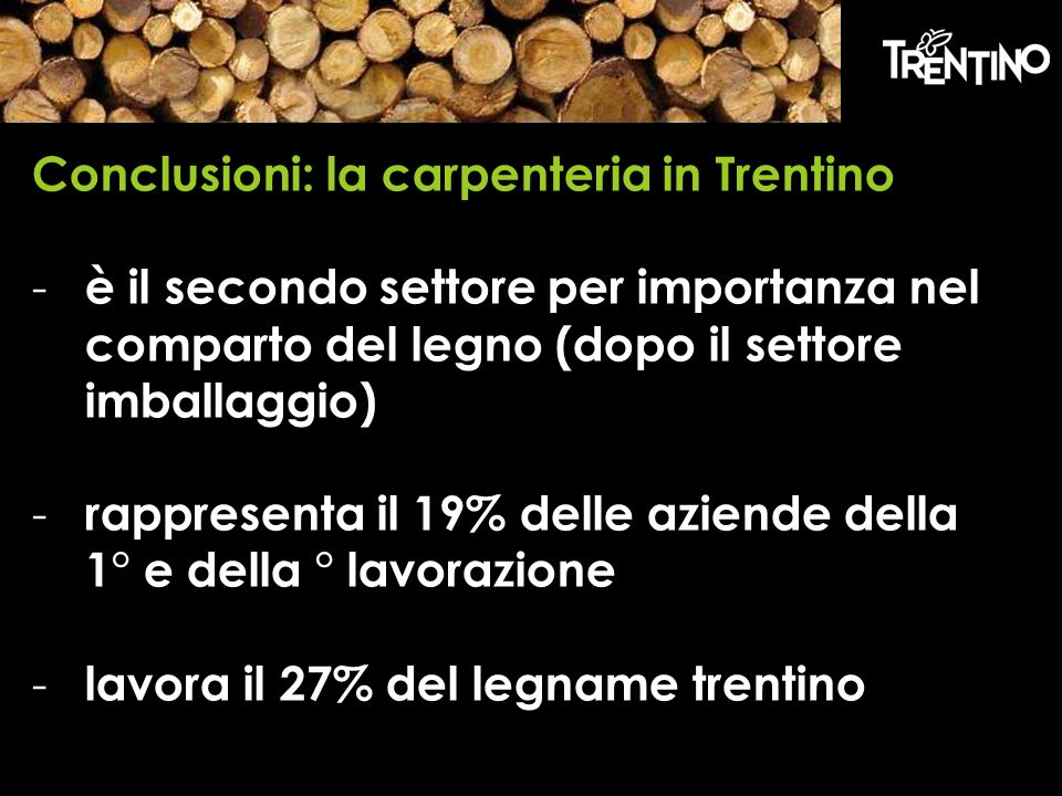 Conclusioni: la carpenteria in Trentino
