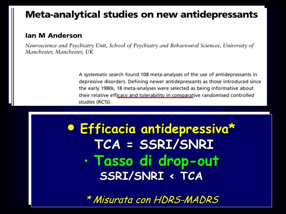 Efficacia antidepressiva*