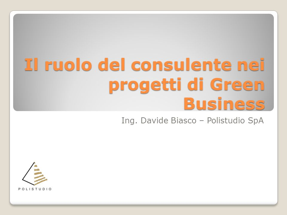 Il ruolo del consulente nei progetti di Green Business