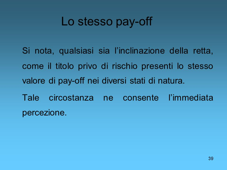 Lo stesso pay-off