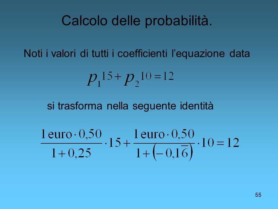Calcolo delle probabilità.