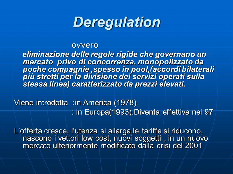 Deregulation ovvero.