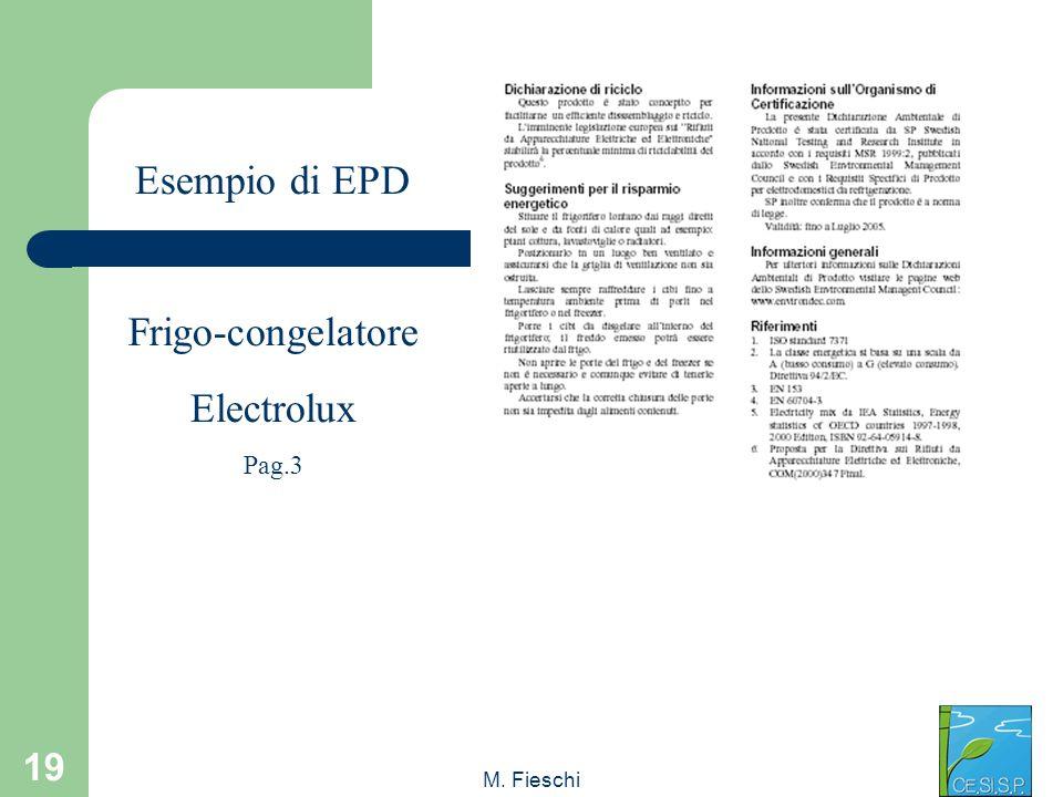 Esempio di EPD Frigo-congelatore Electrolux Pag.3 M. Fieschi