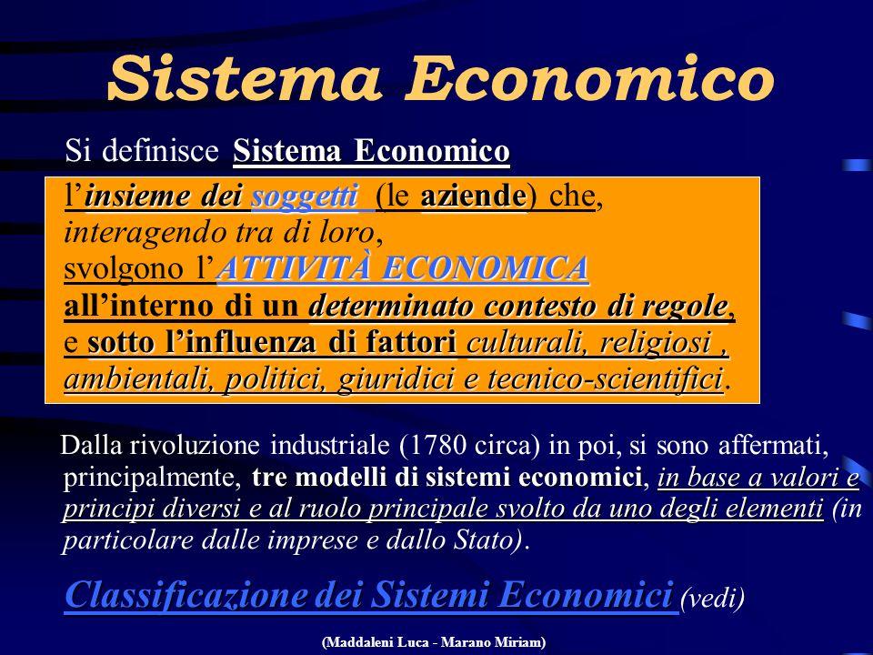 Sistema Economico Si definisce Sistema Economico