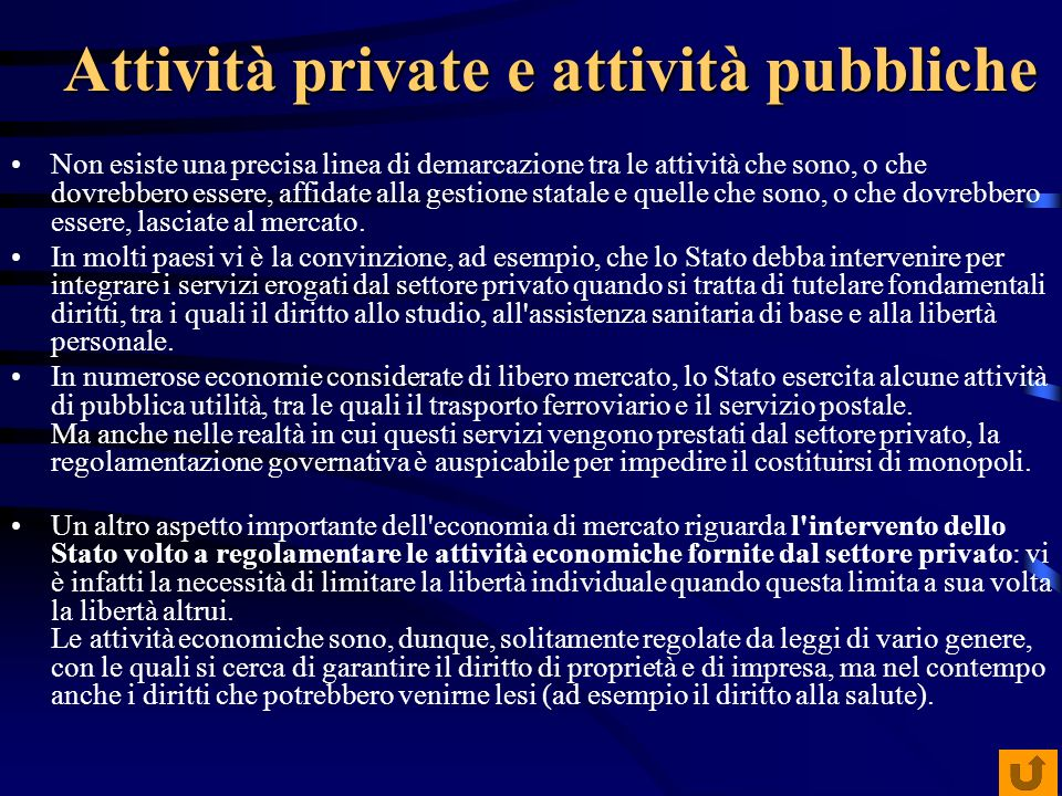 Attività private e attività pubbliche