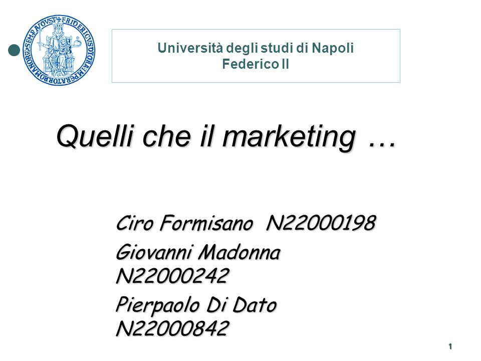 Quelli che il marketing …