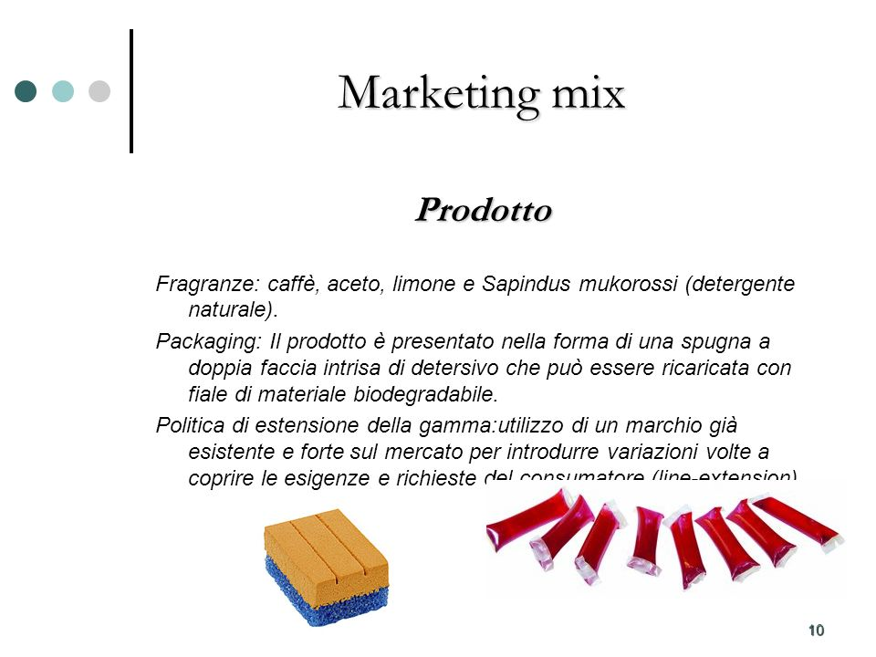Marketing mix Prodotto