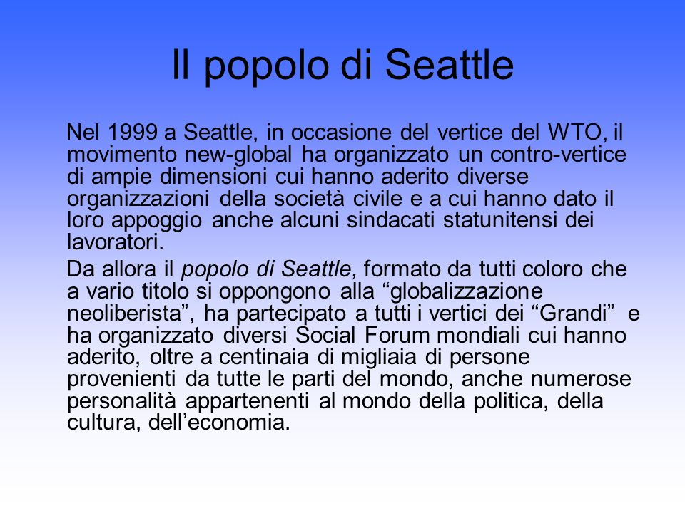 Il popolo di Seattle