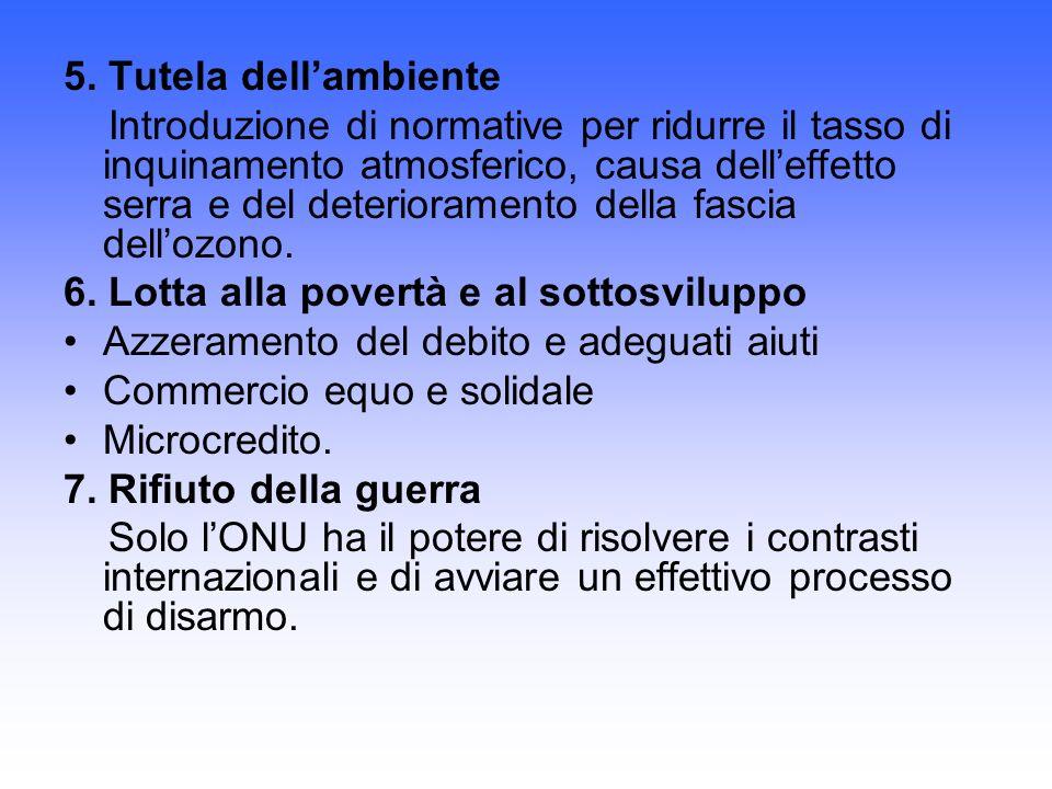 5. Tutela dell'ambiente