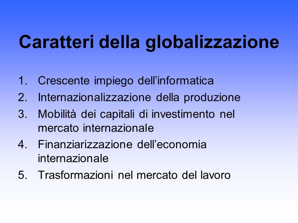 Caratteri della globalizzazione