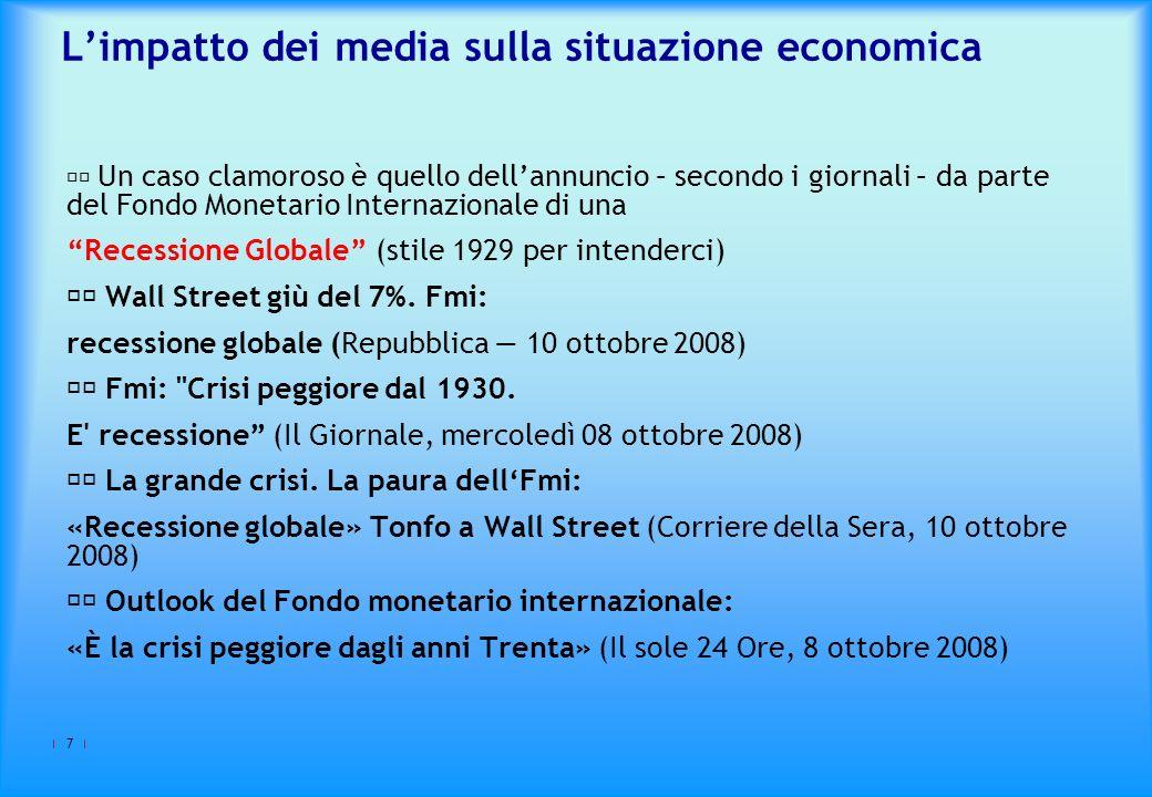 L'impatto dei media sulla situazione economica