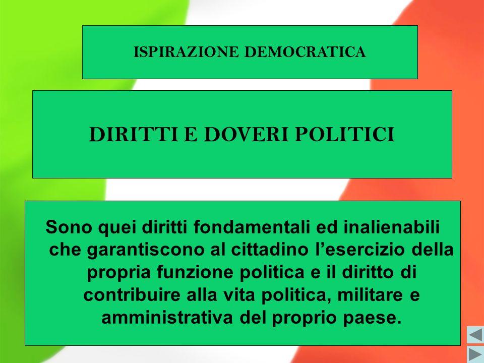 ISPIRAZIONE DEMOCRATICA DIRITTI E DOVERI POLITICI