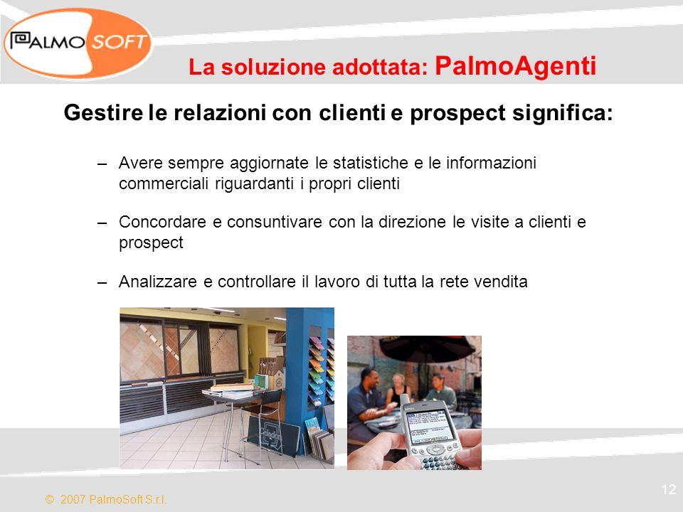 La soluzione adottata: PalmoAgenti