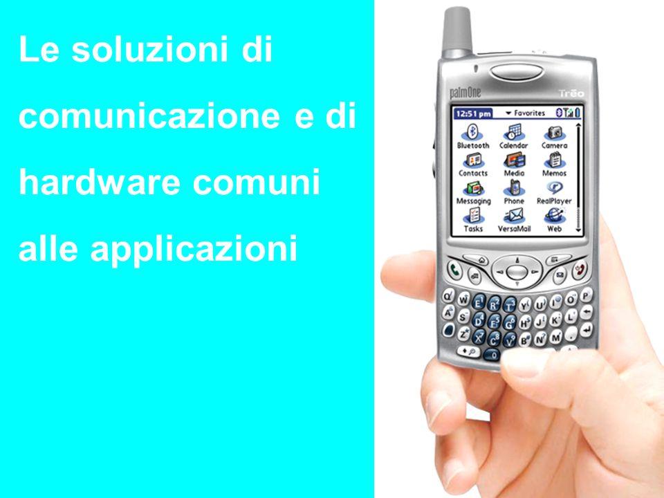 Le soluzioni di comunicazione e di hardware comuni alle applicazioni