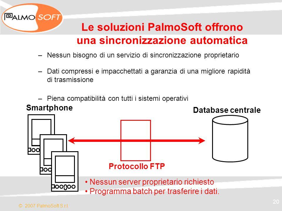 Le soluzioni PalmoSoft offrono una sincronizzazione automatica