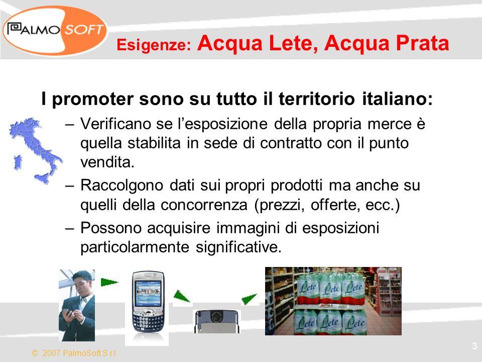 Esigenze: Acqua Lete, Acqua Prata