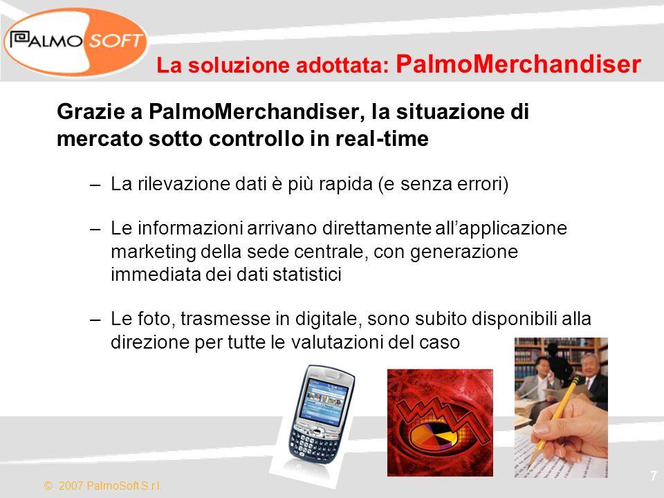 La soluzione adottata: PalmoMerchandiser