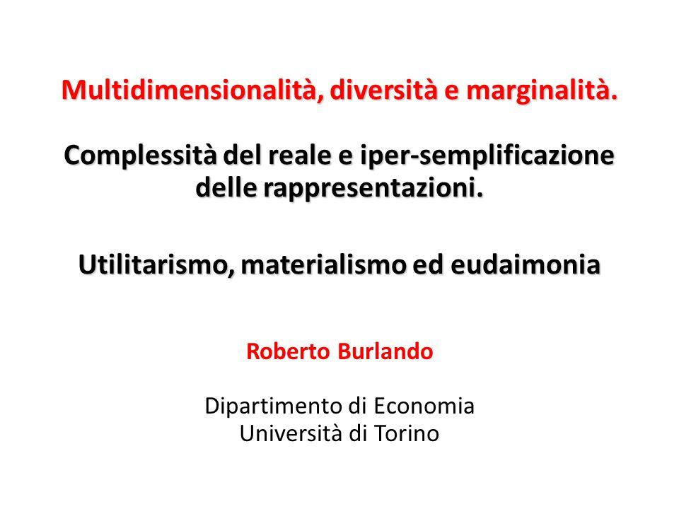 Roberto Burlando Dipartimento di Economia Università di Torino