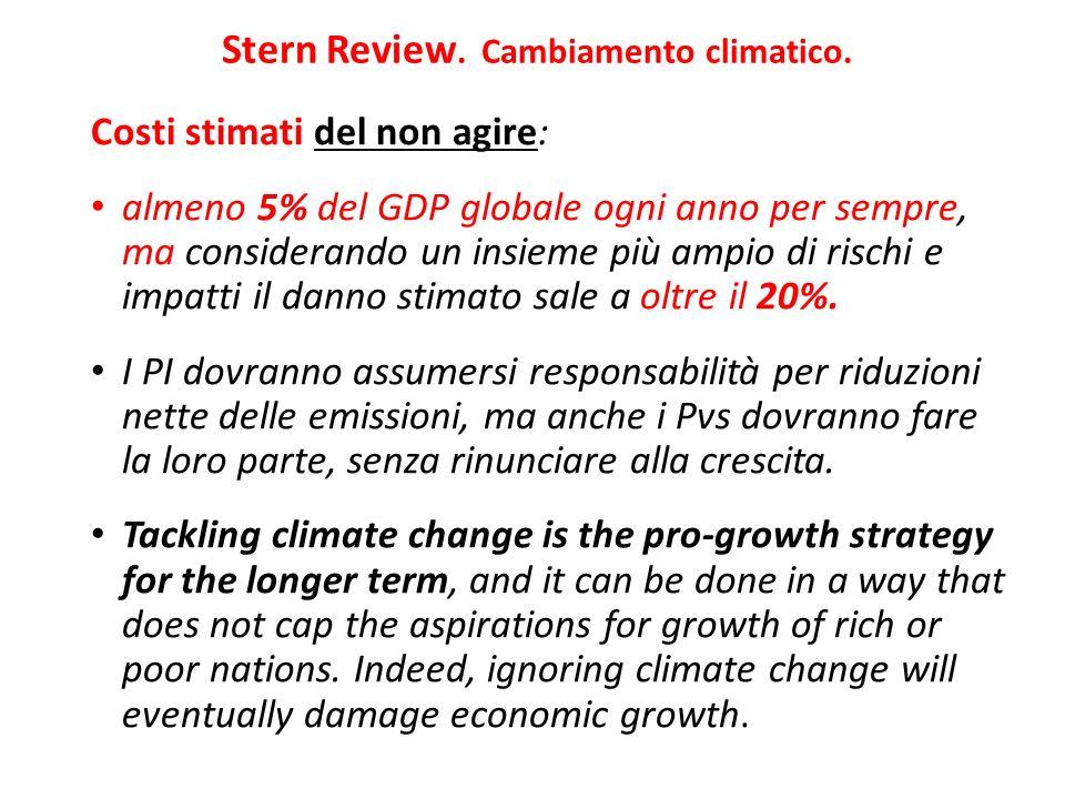 Stern Review. Cambiamento climatico.